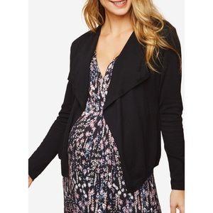 Motherhood Maternity Black Open Cardigan Size Med